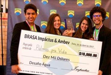 Estudante baiana recebe prêmio por projeto de reuso de água
