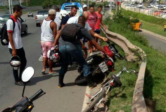 Motociclista morre após acidente em viaduto de São Cristóvão