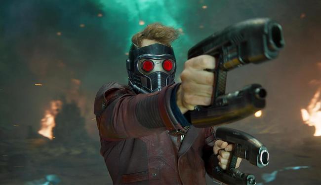O ator Chris Pratt vive o herói Peter Quill em Guardiões da Galáxia - Foto: Divulgação