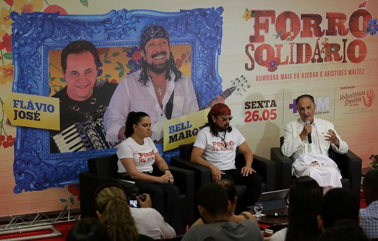 Apresentação do evento beneficente, na sede do Hospital Aristides Maltez (Brotas) - Foto: Adilton Venegeroles l Ag. A TARDE