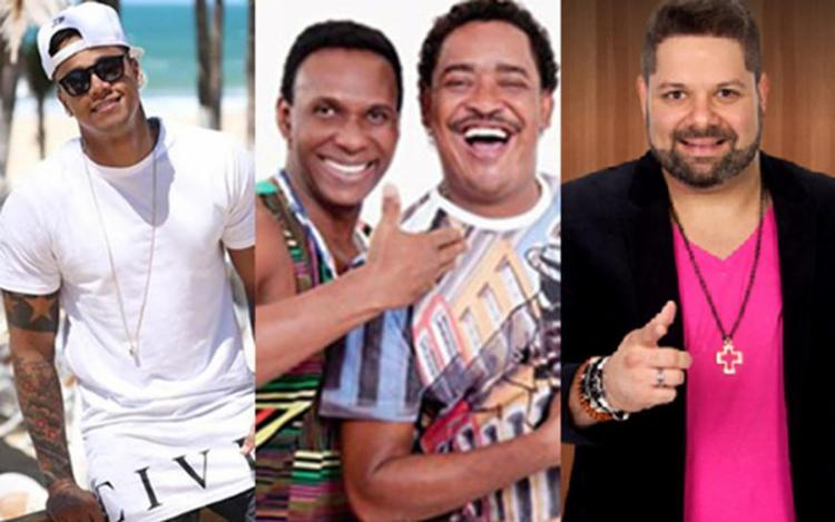 Léo Santana, É o Tchan e Danniel Vieira irão se apresentar no domingo - Foto: Divulgação