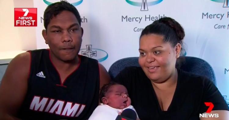 O parto foi feito sem uso de anestesia - Foto: Reprodução | 7 News First