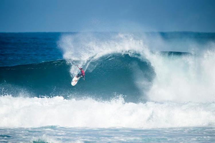 Mineirinho, um dos destaques do dia - Foto: Matt Dunbar | WSL