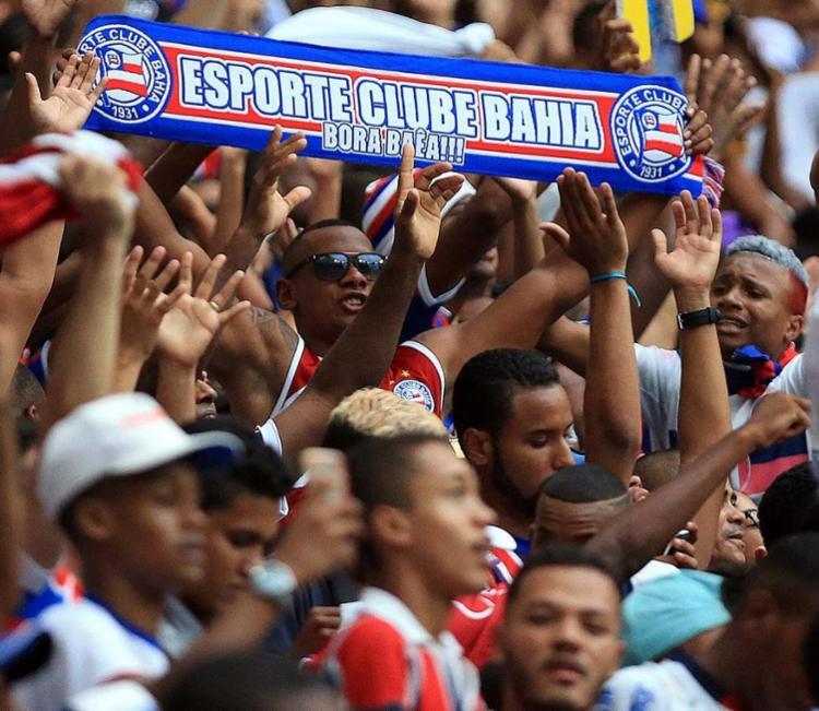 Torcida do Bahia durante partida do tricolor - Foto: Felipe Oliveira | EC Bahia | Divulgação | 19.11.2016