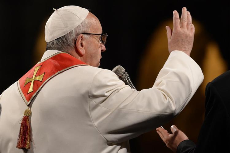O papa repetiu a palavra