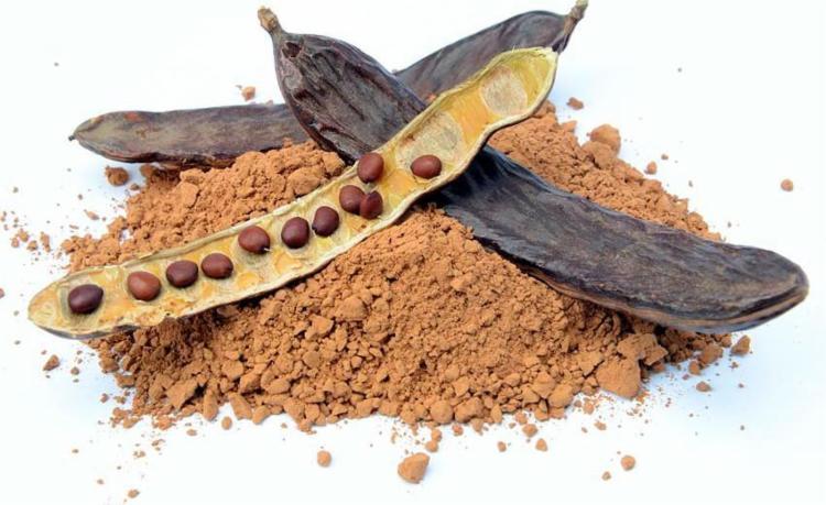 Alfarroba em pó tem aparência semelhante a chocolate - Foto: Reprodução