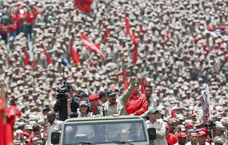 Mais 500 mil homens participarão de patrulhamento em todo o país às vésperas de protesto da oposição - Foto: AFP