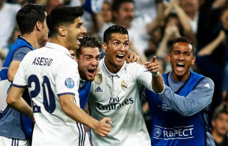 Cristiano Ronaldo foi o nome do confronto com cinco gols nos dois jogos - Foto: Oscar Del Pozo | AFP