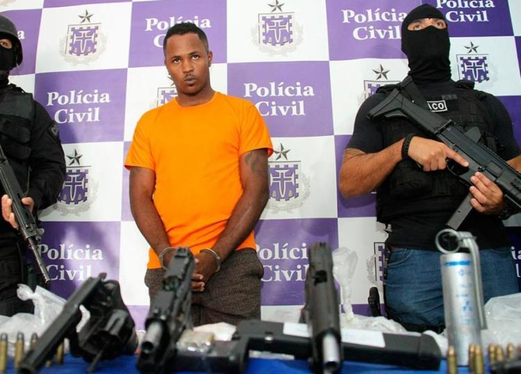 Jair, com passagem por tráfico em 2015, coleciona mortes em sua ficha criminal - Foto: Alberto Maraux | SSP