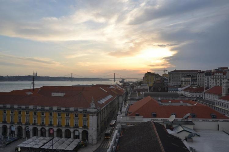 Vista do Arco da Rua Augusta, em Lisboa - Foto: Anderson Sotero