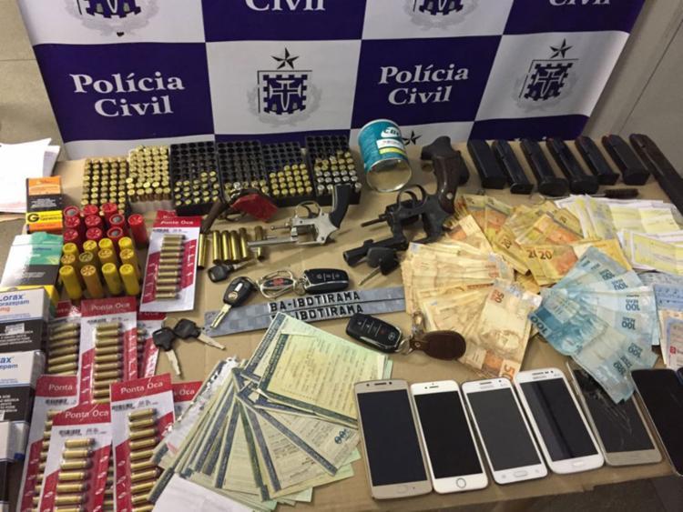 Todo o material estava em poder do cigano Agaston Castro Dourado - Foto: Divulgação | Polícia Civil