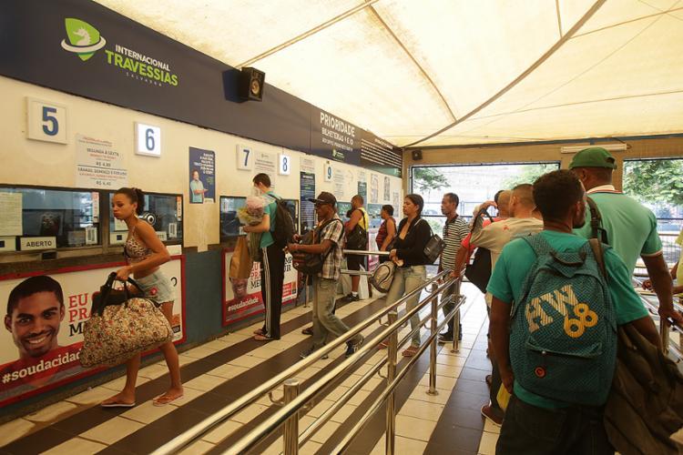 Usuários não encontraram filas para embarcar - Foto: Joá Souza l Ag. A TARDE
