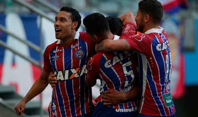 Bahia venceu a partida com um placar magro - Foto: Adilton Venegeroles | Ag. A TARDE