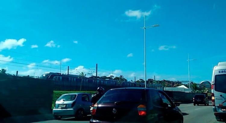 Metrô saiu da estação Rodoviária sentido Pituaçu - Foto: Raul Spinassé | Ag. A TARDE
