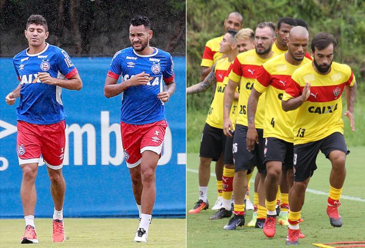 Edson e Jackson podem reforçar setor defensivo tricolor; Gabriel Xavier será reavaliado e pode jogar na quinta - Foto: Felipe Oliveira l EC Bahia e Maurícia da Matta l EC Vitória