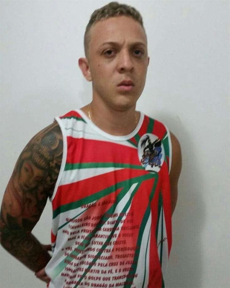 Bruno Nascimento já havia sido preso por tráfico de drogas e homicídios - Foto: Divulgação l Polícia Civil