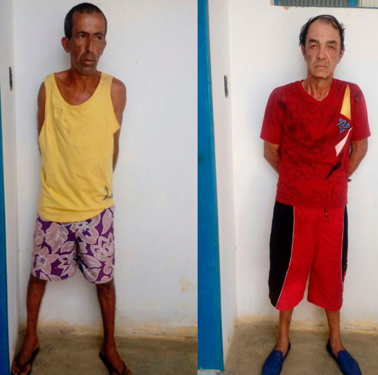 Suspeitos foram apresentados na Delegacia Territorial do município de Brotas de Macaúbas - Foto: SSP | Divulgação