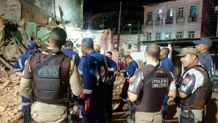 Três pessoas morreram no desabamento - Foto: Divulgação   SSP