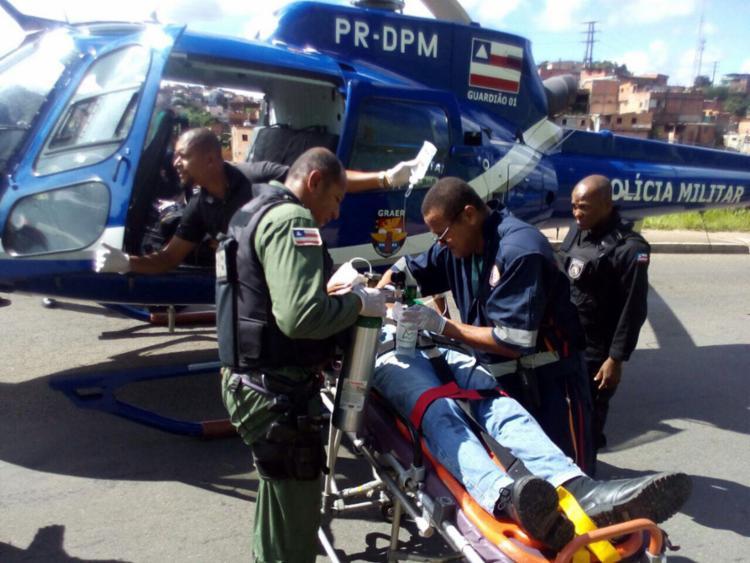Duas pessoas ficam feridas após batida entre carros - Foto: Divulgação | SSP