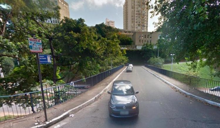 O trecho passou por duas semanas de teste como mão única - Foto: Reprodução   Google Maps