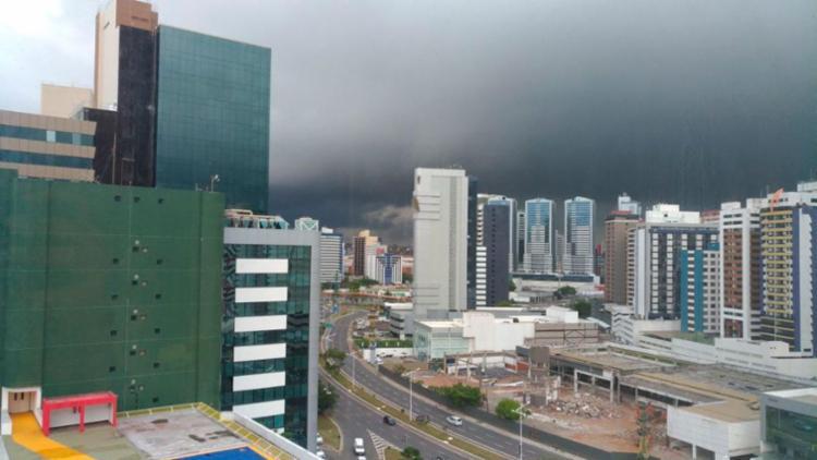 Inmet prevê pancadas de chuva até domingo - Foto: Cidadão Repórter   Via WhatsApp