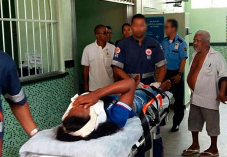 A estudante foi atingida na boca - Foto: Reprodução | Giro Ipiaú