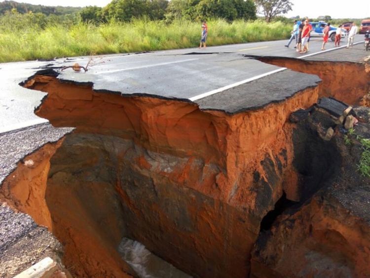 O trecho fica na altura do Km 133 da rodovia, no distrito de Roda Velha - Foto: Reprodução | DNIT