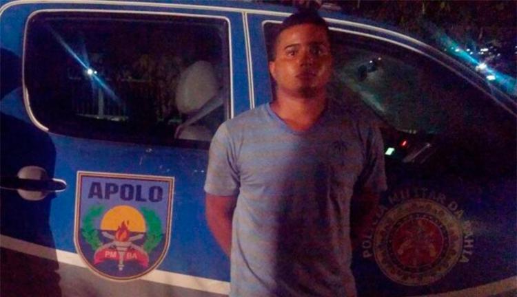 Lucas Góes foi detido em flagrante após roubo - Foto: Divulgação | SSP