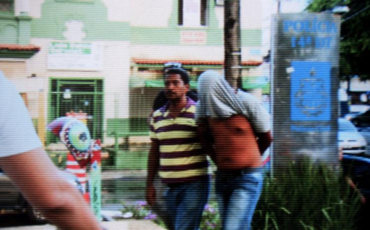 Geovane foi preso, na quarta-feira, 5, assim que se apresentou na 2ª Vara da Infância e Juventude, na Av. Bonocô - Foto: Joá Souza l Ag. A TARDE l Reprodução da TV Record