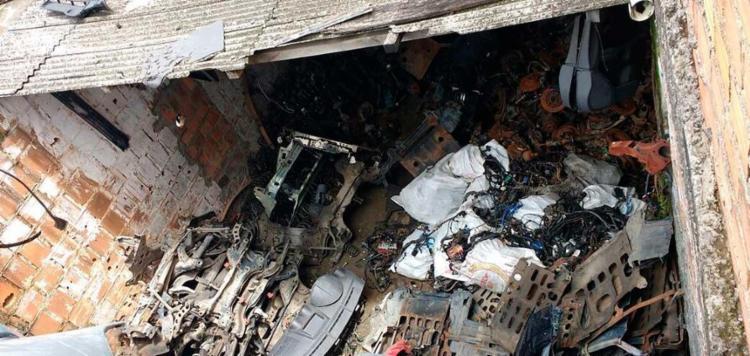 Foram identificadas peças de veículos roubados em 2017 - Foto: Divulgação | Polícia Civil
