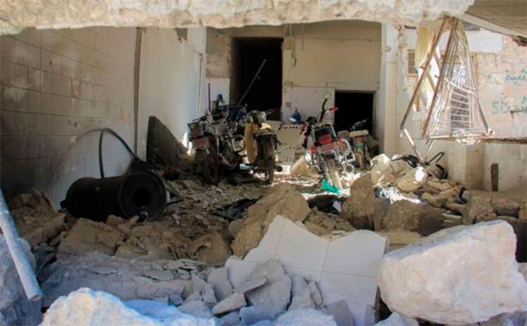 O bombardeio na Síria durou aproximadamente cinco minutos - Foto: AFP PHOTO   Omar haj kadour