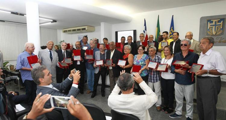 Cronistas esportivos foram premiados no evento - Foto: Carol Garcia | GOVBA