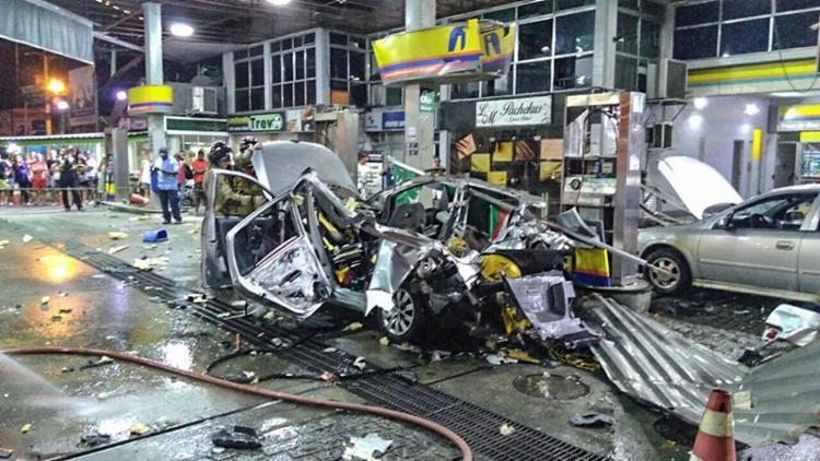 Três pessoas ficaram feridas na explosão - Foto: Reprodução | Maricá Info