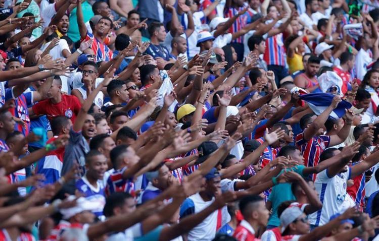 Na decisão do Nordestão, o Bahia contou com a força da torcida para vencer o Sport - Foto: Adilton Venegeroles | Ag. A TARDE