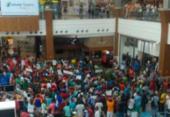 Após passeata e protesto em shopping, vigilantes encerram ato em Salvador | Foto: