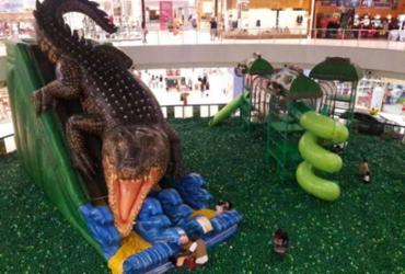 'Selva divertida' é destaque em shopping na Paralela