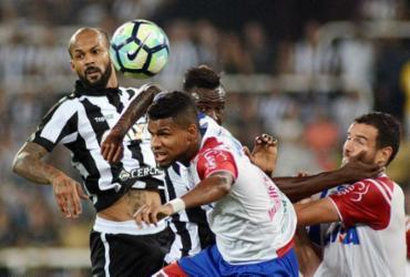 Bahia para no goleiro do Bota e perde por 1 a 0 no Rio