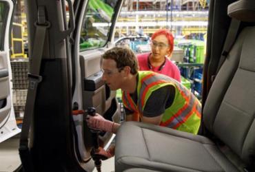 Mark Zuckerberg ajuda a construir Ford F-150