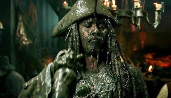 Capitão Jack Sparrow, interpretado pelo protagonista Johnny Depp - Foto: divulgação