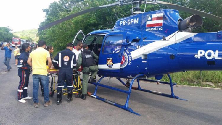 Equipes do Samu e bombeiros também participaram do resgate - Foto: Divulgação | SSP