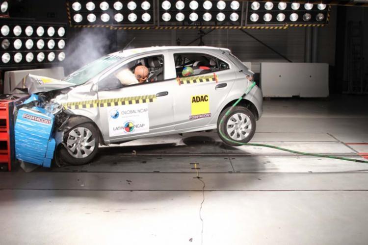 Teste de colisão - Foto: Latin NCap | Divulgação