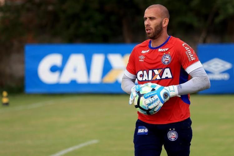 Rafael já treinava com elenco tricolor e tentará desbancar o titular Jean - Foto: Divulgação | EC Bahia