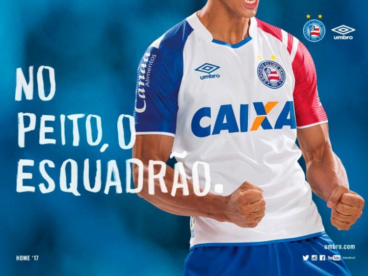 Uniforme foi lançado momentos antes do jogo contra o Atlético-PR - Foto: Divulgação | E.C.Bahia