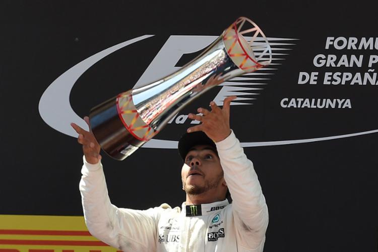 Hamilton venceu o GP da Espanha de Fórmula 1 no circuito de Montmeló - Foto: LLUIS GENE | AFP PHOTO