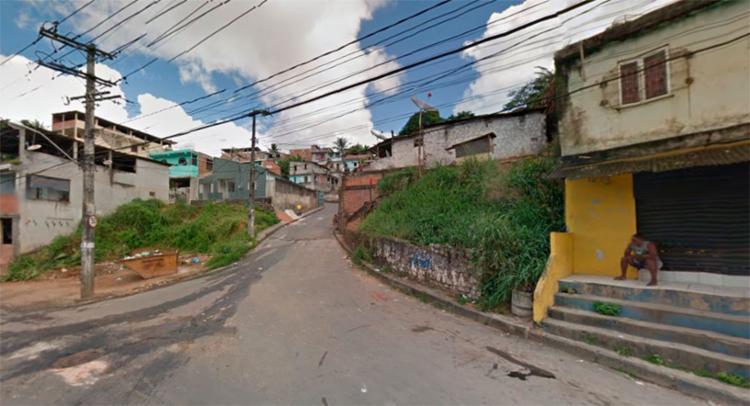 O crime aconteceu na rua Alto do Tanque, em Periperi - Foto: Reprodução   Google Maps