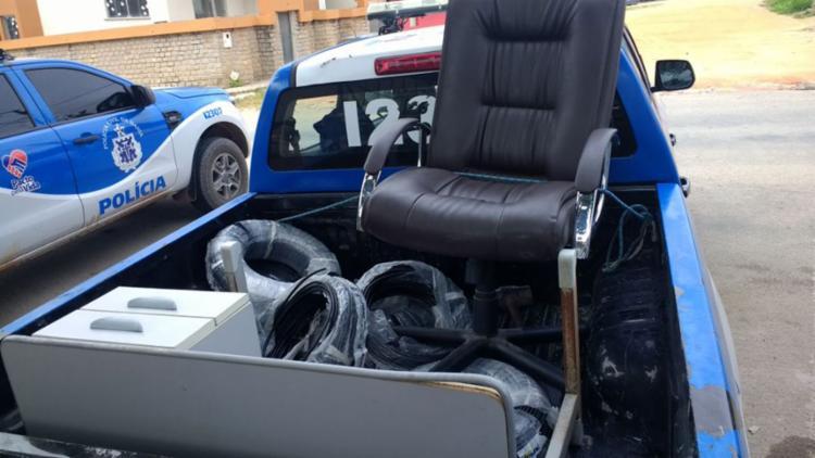 Bens furtados pelos suspeitos foram apreendidos pela polícia - Foto: Divulgação | SSP