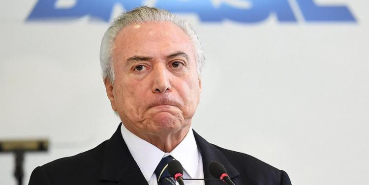 O pedido de investigação contra Temer foi feito pela Procuradoria-Geral - Foto: Evaristo Sa l AFP
