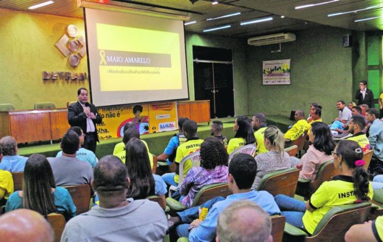 Detran promove palestras no Maio Amarelo - Foto: Detran