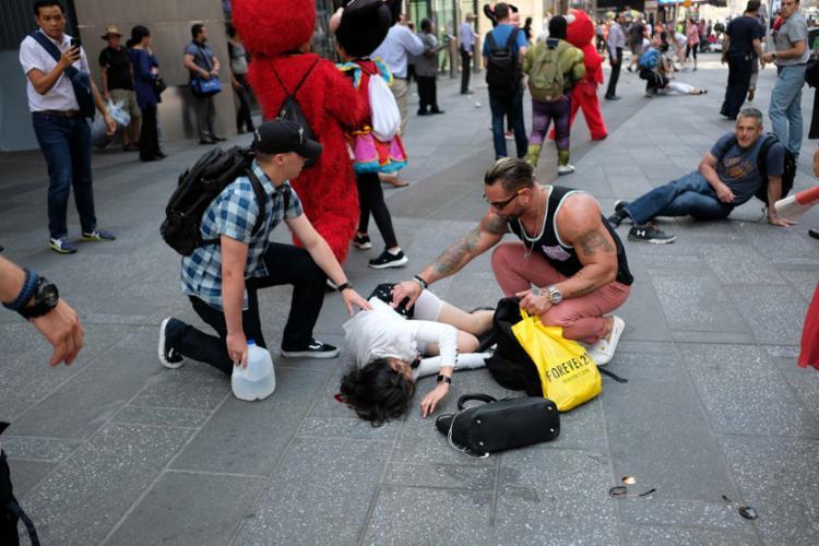 Várias pessoas ficaram feridas durante o atropelamento - Foto: AFP