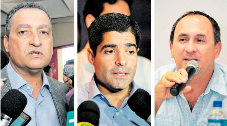 Políticos baianos, como Rui Costa, ACM Neto e João Gualberto, revelam preocupação com a crise - Foto: Adilton Venegeroles e Joá Souza | Ag. A TARDE